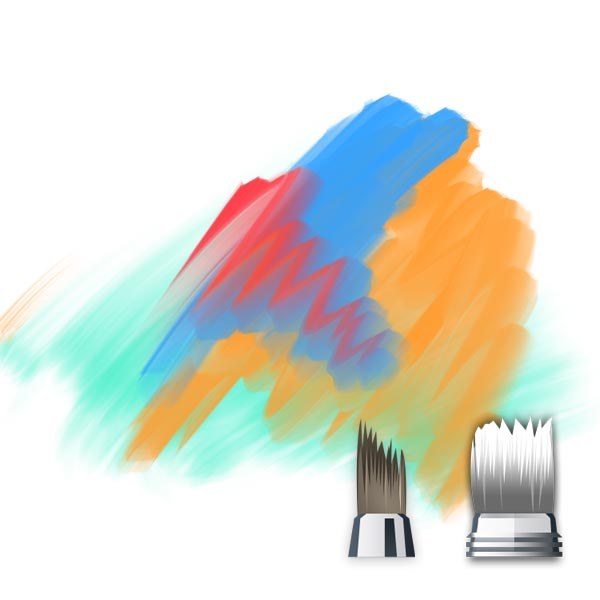 synthetic blending brush aecd